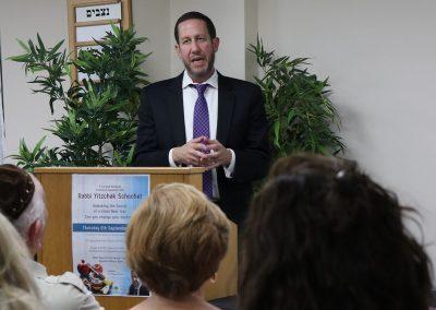 Speaker- Rabbi Y Shochet September 2018